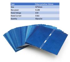 Panneau Solaire Poly Silicium Cristallin Sunpower Cellules Solaires x50 Pièces