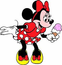 ICE CREAM VAN MINNIE MOUSE Vinyl Sticker Decal CATERING stickers