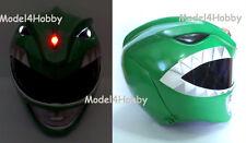 Light up Mighty Morphin Power Ranger GREEN Life-size Helmet Hero Halloween Props