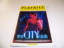 2012 MINETTA LANE THEATRE PLAYBILL - THE CITY CLUB - KRISTIN MARTIN PANDALEON
