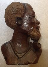 Museum Quality Hand Carved Bust By African Chari Tribe Great Details Very RARE!