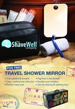 SHAVE WELL FOG FREE TRAVEL MIRROR  - now enjoy a fogless shave away from home