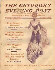 Nov 1 1902 Sábado Noche POST - REVISTAS - HARRISON Fisher - BONITO dress
