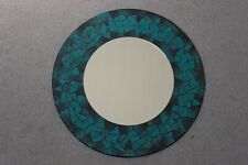 Superb Hand Crafted Mosaic Mirror With Dark Green Color 50 Cm Wide