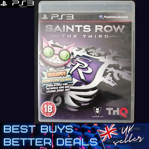 Saints Row The Third 3 PS3 Game TESTED Very Good Condition PAL