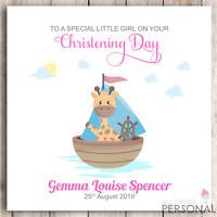 Personalised Girls Christening Card Goddaughter Daughter Granddaughter Niece