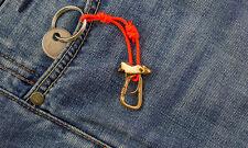 "Bronze keychain ""Сarabiner and вelay device"""