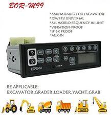 Heavy Duty 2 Way Car Truck Radio Excavator Radio 12-24v Am Fm With Mp3 Player