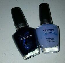 NEW! LOT OF 2 CUCCIO Nail Polish DARK BLUE & LILAC