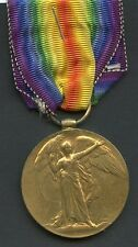 WW1 Victory Medal To Pte Edgar Peaks. Royal Army Medical Corps