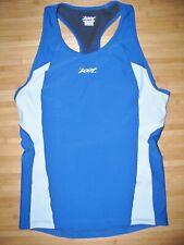 Womens ZOOT Jersey TRI TRIATHLON Size XL Nylon Spandex with SHELF BRA Blue