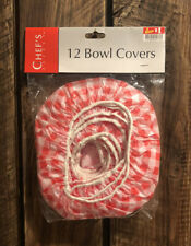 Chef's Select Pack Of 12 Bowl Covers - Red Pattern - Brand New In Packaging