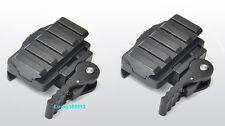 2Pcs Tactical Compact QD Quick Release Picatinny Weaver Rail Rifle Scope Mount *