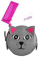 Cat Zip Coin Purse by MALA Leather Kids Girls Ladies Round Money Change Purses