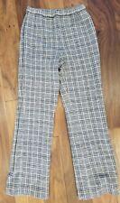 Vtg Womens Sz 6 8 Pants Wool Bleyle for Hooper Made in Germany Retro Plaid Beige
