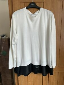 Black Faux leather Top Size 22