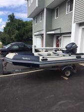 Inflatable boat Zodiac with Yamaha motor 15HP 4-stroke and trailer