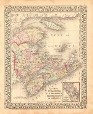 1874 ANTIQUE MAP - CANADA - NOVA SCOTIA, NEW BRUNSWICK, CAPE BRETON, PR EDWARD I