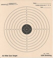 "TYRO 10 Meter Air Rifle Target (USA Shooting), 6-1/2"" x 7"", 1-1/4"" Black (100)"