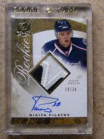 08-09 UD The Cup Autographed Rookie Patch Gold NIKITA FILATOV /28