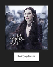GAME OF THRONES - MELISANDRE (Carice van Houten) #2 Signed 10x8 Mounted Photo