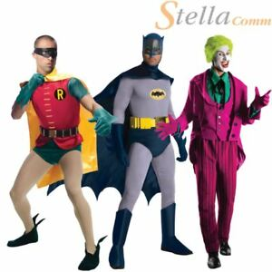 Mens Grand Heritage Batman Fancy Dress Superhero Character Adults Costume Outfit