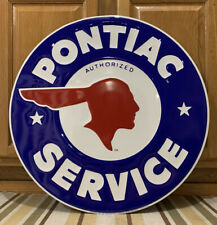 Pontiac Car Service Metal Sign Garage Vintage Style Wall Decor Tools Oil Gas Bar