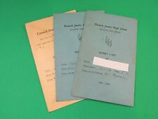 Vintage Teaneck JR High And High School Report Cards 1930's