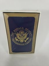 MEGA RARE Deck of Playing Cards RONALD REAGAN PRESIDENTIAL LIBRARY, SEALED cards