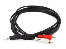 Monoprice 6ft 3.5mm Stereo Plug/2 RCA Plug Cable, Black