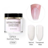 10ml BORN PRETTY Dip Dipping Acrylic Powder Natural Clear Long Lasting Nail Art