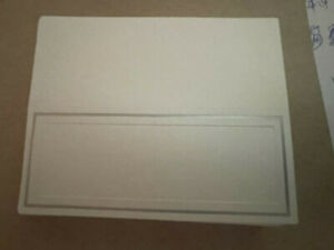 """Hallmark Licensing Place Cards - 28 count -- white with silver - 3"""" X 3.75"""""""