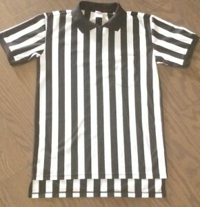 RAWLINGS M Referee Umpire Zip Collar Striped Short Sleeve Jersey FASHION HAVEN