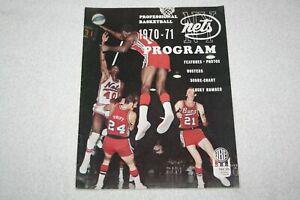 1970-1971 ABA MSG Doubleheader PROGRAM * Nets vs Colonels + Stars vs Floridians