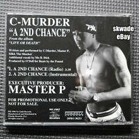 "C-Murder ""A 2nd Chance"" RARE 1998 Life Or Death Promo CD Single No Limit Records"