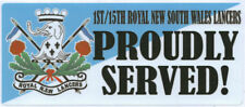 1ST/15TH ROYAL NEW SOUTH WALES LANCERS PROUDLY SERVED LAMINATED VINYL STICKER
