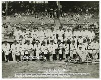 MLB 1935 American League All Star Team Picture Black & White 8 X 10 Photo Pic