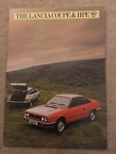 LANCIA COUPE & HPE Brochure 1982 - Very Good Condition
