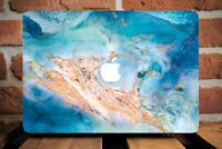 Gold Blue Marble Stone Cover Case For Apple Macbook Pro Retina Air 11 12 13 15
