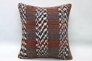 Kilim Pillow, 16x16 in, Ethnic Pillow, Decorative Sofa Pillow, Vintage Pillow