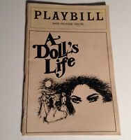 Playbill A Dolls Life 1982 Mark Hellinger Theatre NYC Broadway Theater