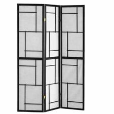 Folding Screen 3 Panel Black Frame