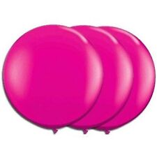 36 Inch Giant Round Hot Pink Latex Balloons by TUFTEX Pkg/3