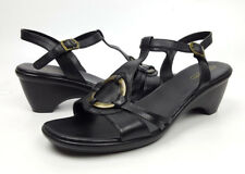 Easy Spirits shoes 9 M black leather ankle strap sandals Off the Island