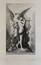 Gustave Moreau (French 1826 -1898) Engraving Hesiode et la Muse