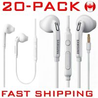 20 X Earphones Headphone Earbud Ecouteur Mic SAMSUNG S7 S8 LG iPhone