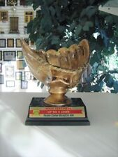 Baseball Holder Mitt Trophy Bronze Color Award For Indv, Team Mom Or Coach