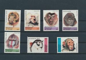 LO56344 Congo 1991 monkey animals wildlife fine lot MNH
