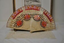 Vintage Pink Spanish Flamenco Dancer Fan, Spanish Decor, Hand painted Fan, Vinta
