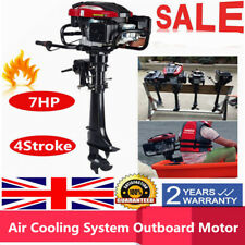 7HP 4-Stroke Outboard Motor Boat Engine Air Cooling System Fishing Boat Motor UK
